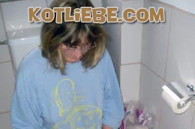 Toiletten Frau liebt Kacken Sex